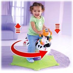 Hipp Hopp Zebra Mattel K0317 – Fisher-Price Hipp Hopp Zebra, Schaukeltier