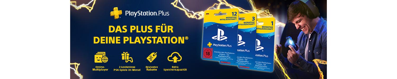 PlayStation Plus Vorteile im Überblick: Online Multiplayer, 2 kostenlose Spiele, Exclusive Rabatte, Extra Speicherkapazität