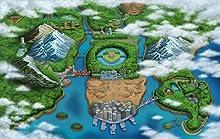 The Unova region from Pokémon Black and Pokémon White