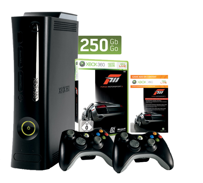 xbox 360 konsole super elite 250 gb inkl 2 wireless. Black Bedroom Furniture Sets. Home Design Ideas