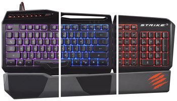 Mad Catz S.T.R.I.K.E. 3 Spieletastatur für PC – Vollständig anpassbare RGB-Hintergrundbeleuchtung