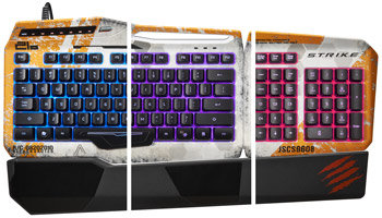 Mad Catz S.T.R.I.K.E. 3 Gaming Keyboard for PC - Fully Customizable RGB Backlighting