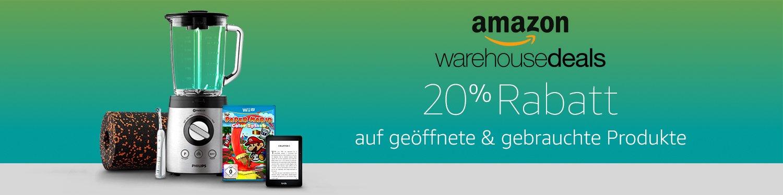 20 Prozent Rabatt auf Warehousedeals