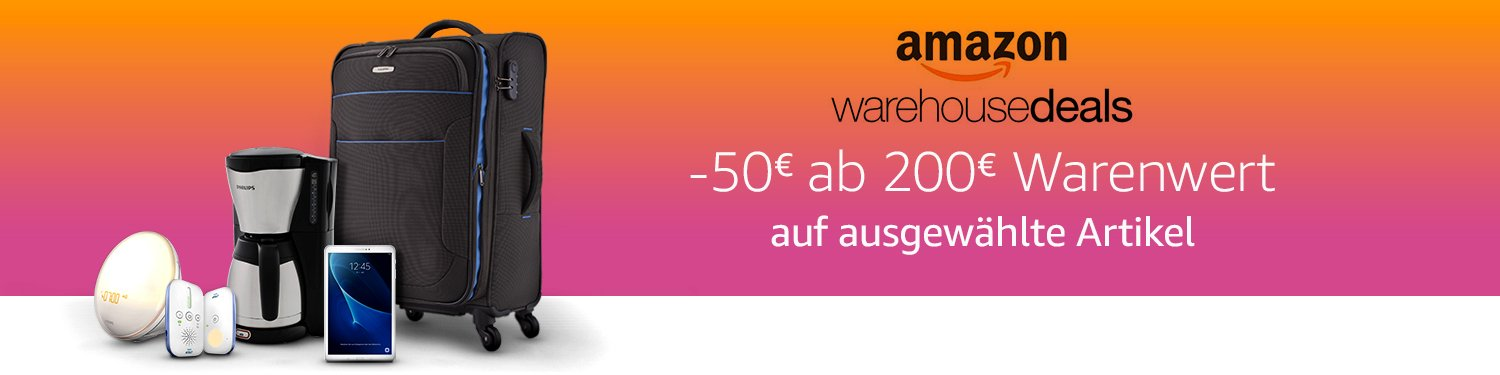50 Euro Rabatt auf Amazon Warehousedeals