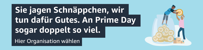 Für Prime Mitglieder gibt AmazonSmile am Prime Day die doppelten Beträge weiter, auf alle AmazonSmile-Käufe!