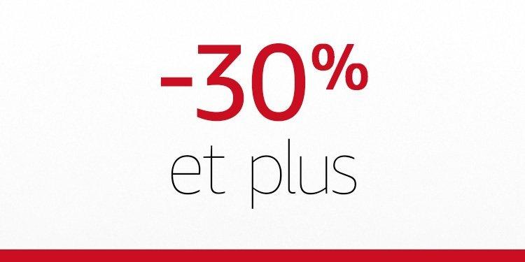 -30% et plus