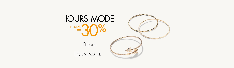 Jours Mode jusqu'à -30% Bijoux