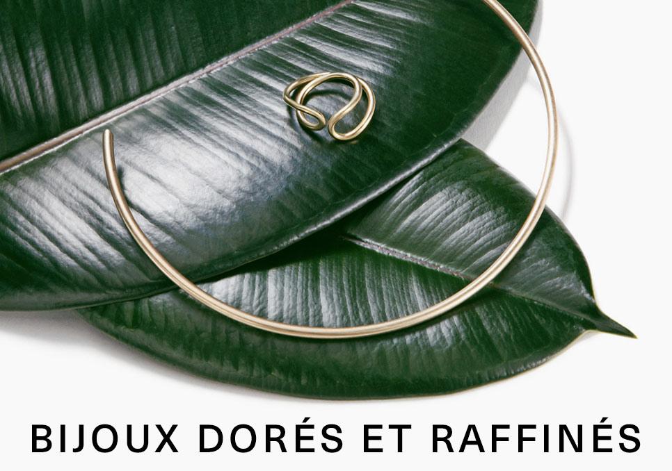 Bijoux dorés et raffinés