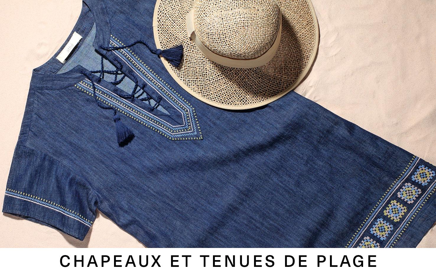 Chapeaux et tenues de plage