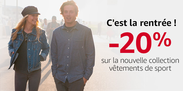 Promotion vêtements de sport