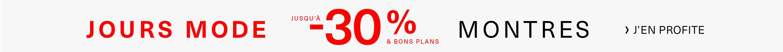 Jours Mode jusqu'à -30% Montres