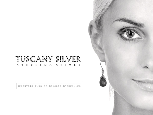 Tuscany Silver - Boucles d'oreilles