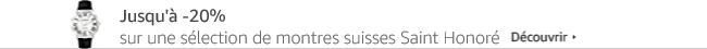 Jusqu'à -20% sur une sélection de montres suisses Saint Honoré