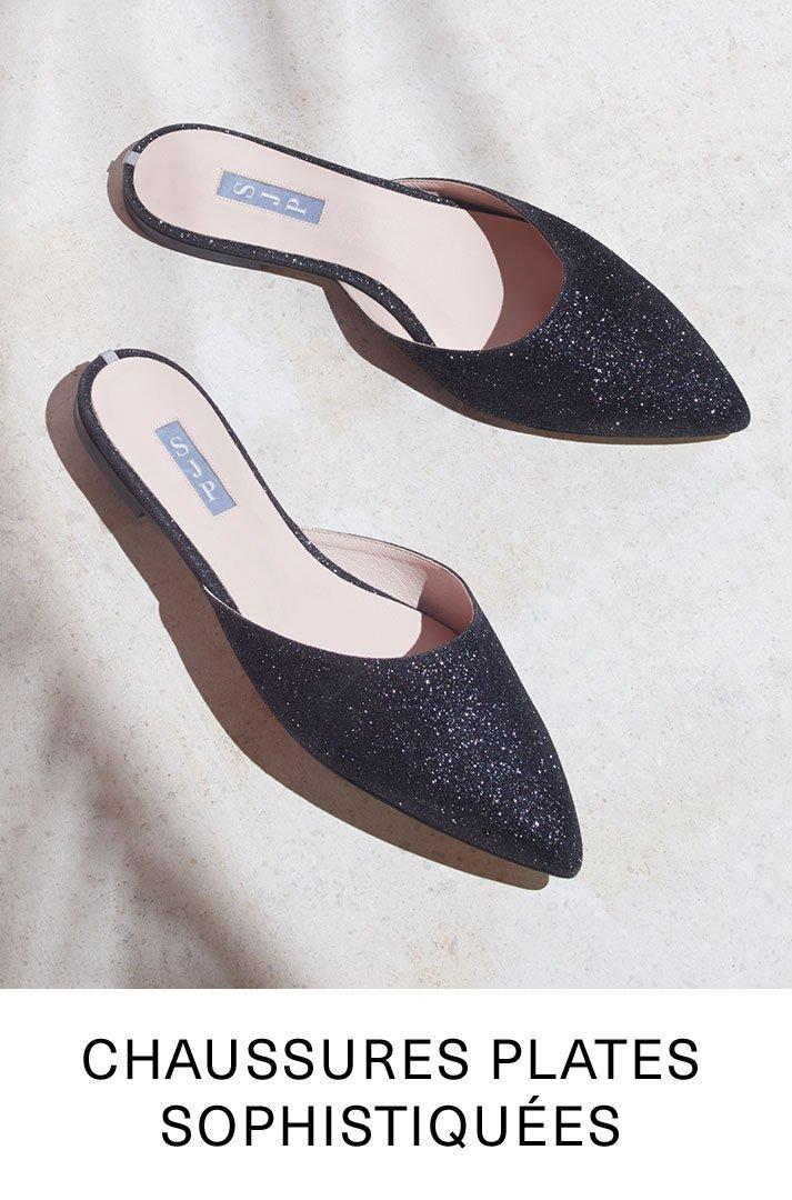 Chaussures plates sophistiquées