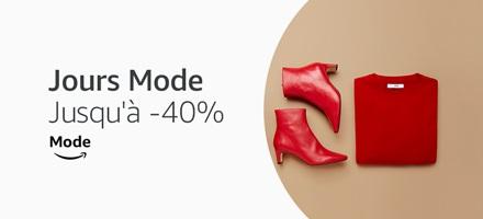 Jusqu'à -40% sur la Mode