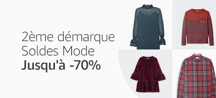 Jusqu'à -70% sur la mode