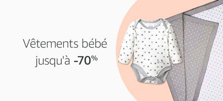 Vêtements bébé jusqu'à -70%