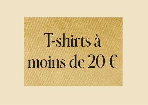 T-shirts à moins de 20€