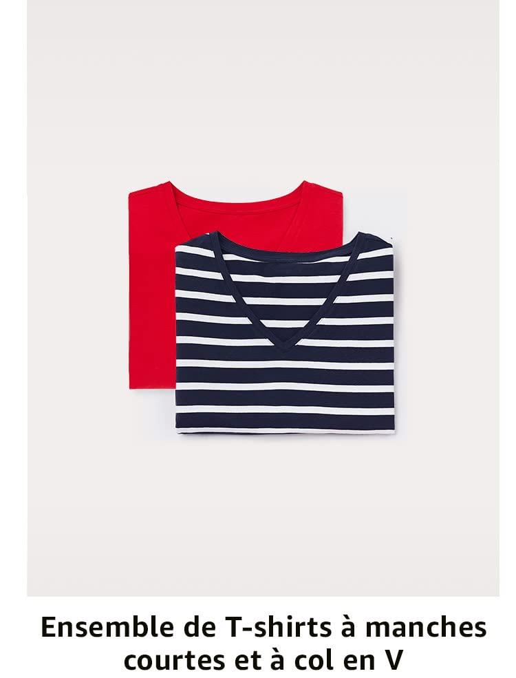 Ensemble de T-shirts à manches courtes et à col en V