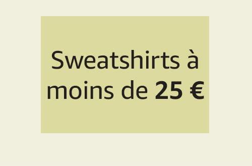 Sweatshirts à moins de 25 €