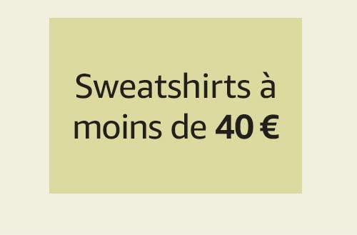 Sweatshirts à moins de 40 €