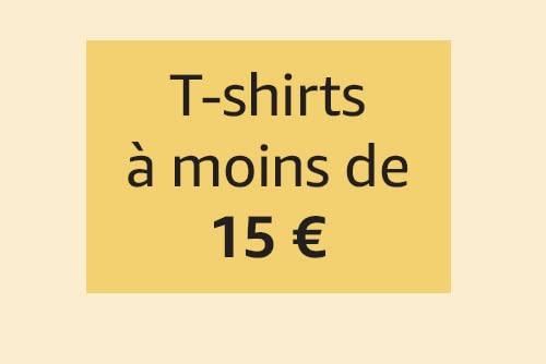 T-shirts à moins de 15€