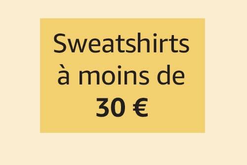 Sweatshirts à moins de 30€