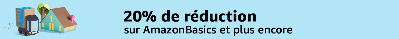 20% réduction sur AmazonBasics et plus encore