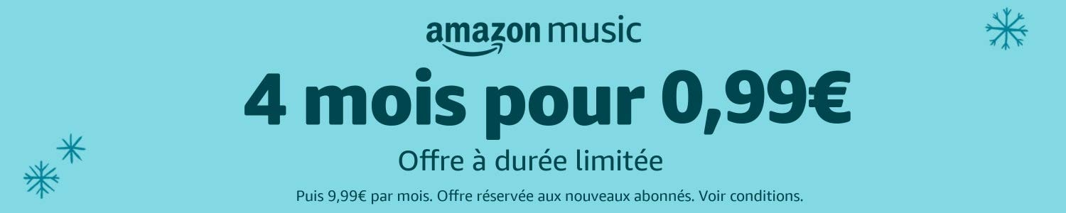 Amazon Music Unlimited - 4 mois pour 0.99€