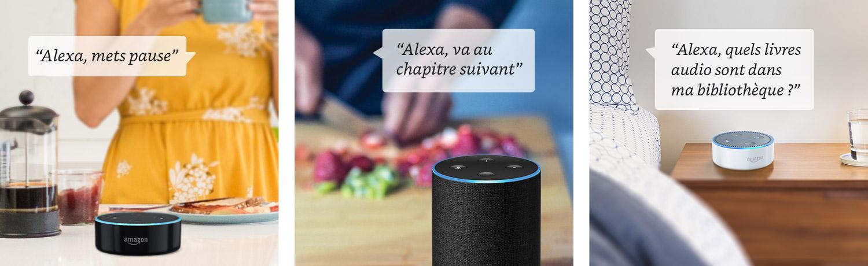 Vos commandes Alexa pour écouter vos livres audio