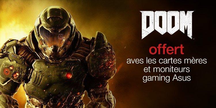 Le jeu DOOM offert avec les produits ASUS