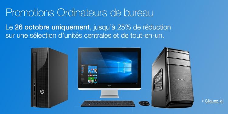 Promotion ordinateurs de bureau