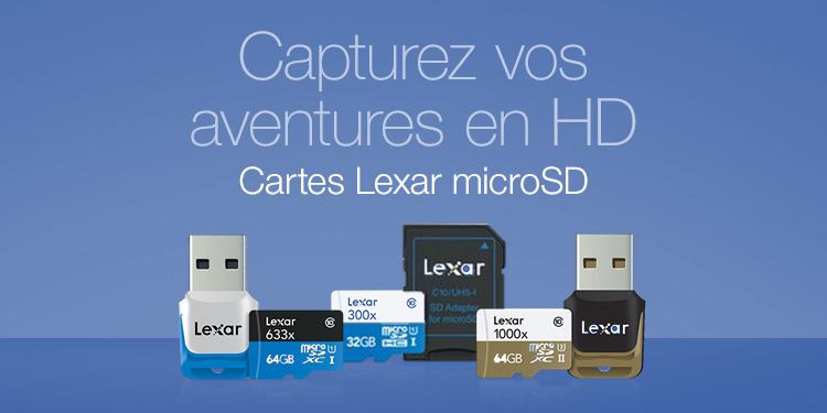 Cartes microSD Lexar