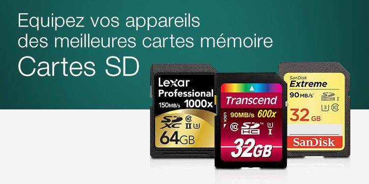 Cartes mémoires SD