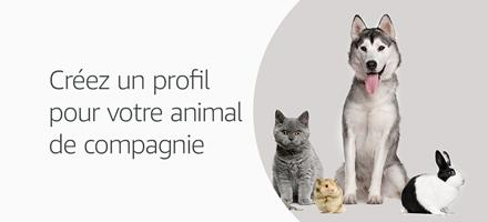 Créez un profil pour votre animal de compagnie