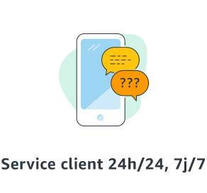 Service client 24h/24, 7j/J