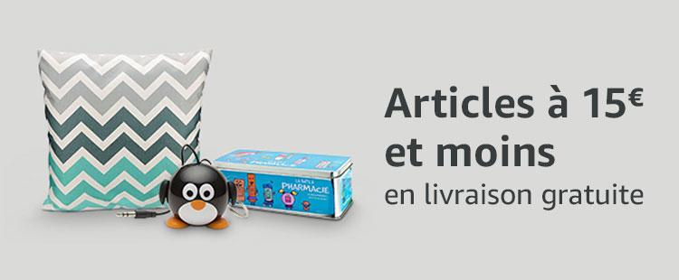 Produits à 15€ et moins en livraison gratuite