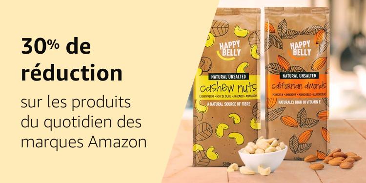 30% de réduction sur les produits du quotidien des marques Amazon