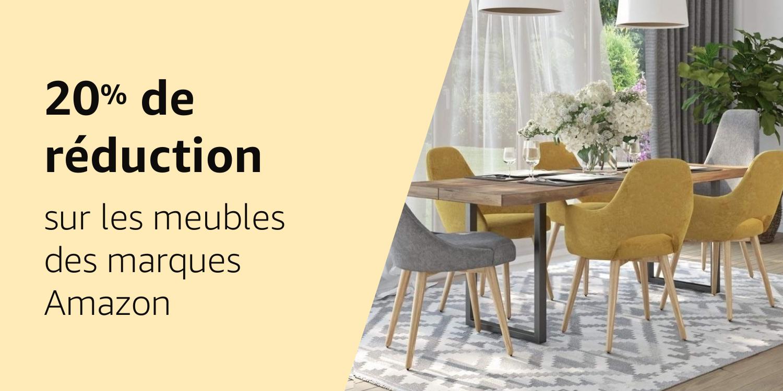 20% de réduction sur les meubles de marques Amazon
