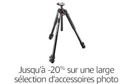 Promotion sur les accessoires photo