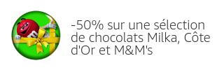 -50% sur une sélection de chocolats