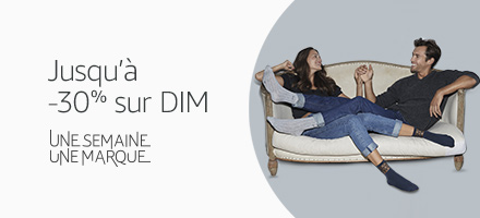 Une semaine, une marque : Jusqu'à 30% de réduction sur la marque DIM