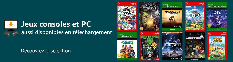 Jeux consoles et PC aussi disponibles en téléchargement