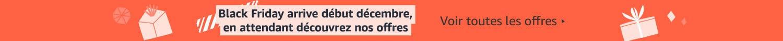 Les offres Black Friday arrivent début décembre.