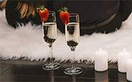 Confiseries et champagne