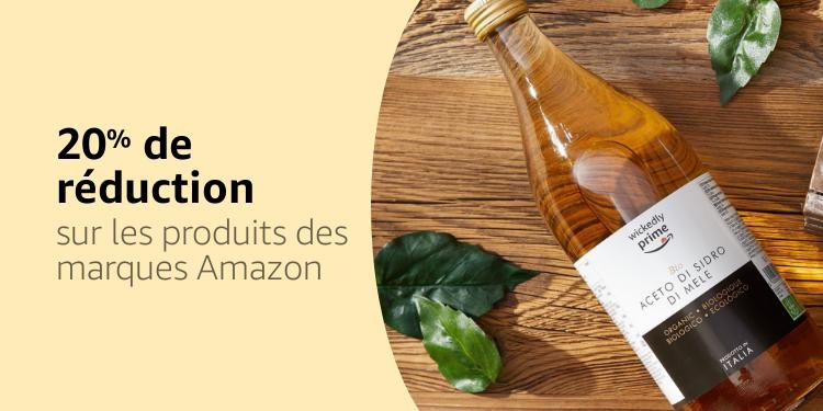 20% de réduction sur les produits des marques Amazon