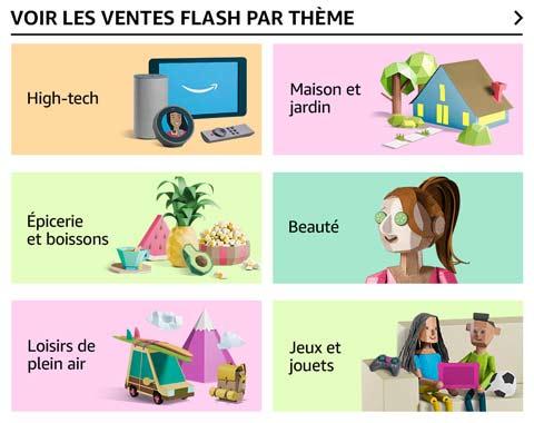 Ventes flash par thème
