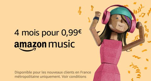 Amazon Music : 4 mois pour 0.99€
