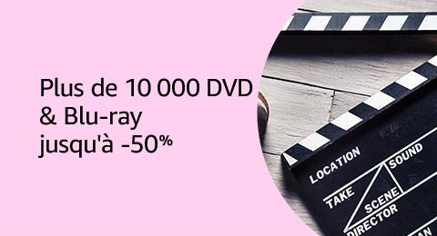 Jusqu'à -50% sur plus de 10 000 DVD