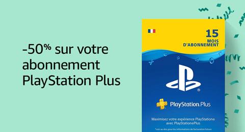 -50% sur votre abonnement Playstation Plus